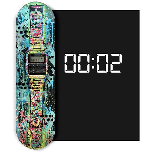 LP-EDITS #2 'Classic Casio Skateboard Deck' HAND EMBELLISHED