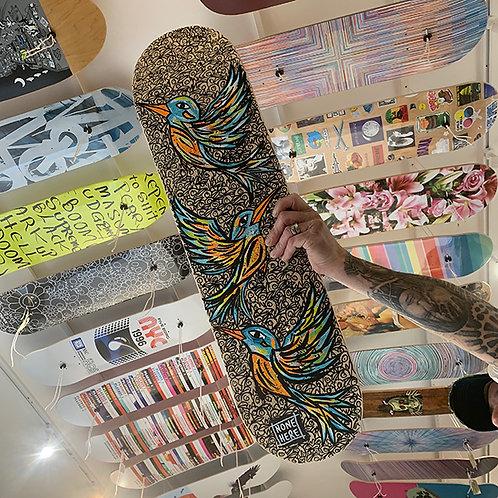 STEVE McCRACKEN Skateboard Deck HAND PAINTED ORIGINAL