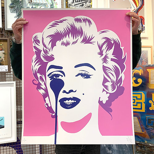 PURE EVIL 'Marilyn Classic' PINK & PURPLE Limited Edition Print