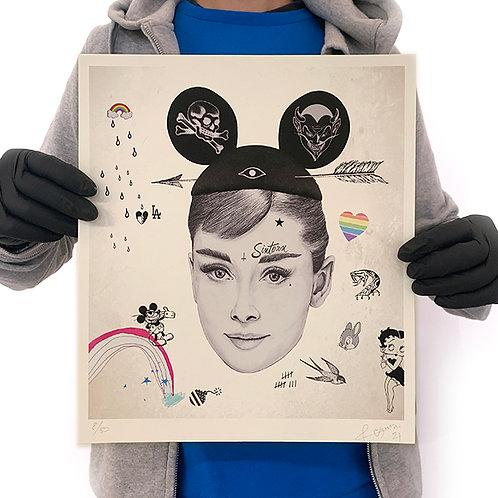 RUGMAN 'AUDREY HEPBURN' Limited Edition Print