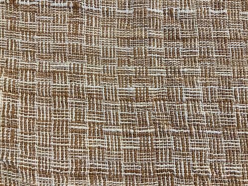 ガジ村の手紡ぎ手織り木綿(茶綿×生成)