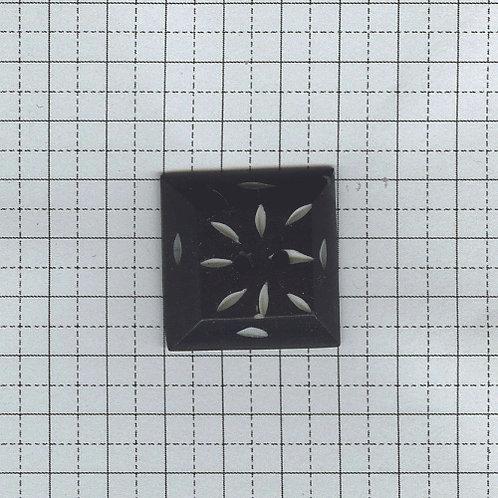水牛の骨のボタン(四角)6-400-12