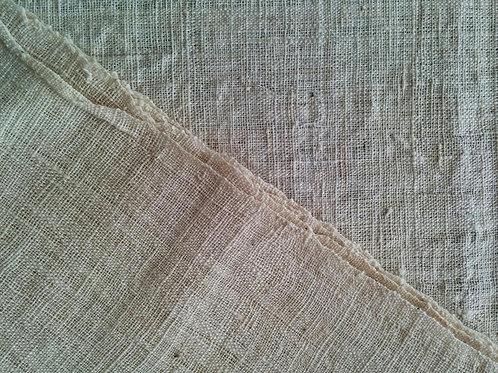 ガジ村の手紡手織り木綿(生成)