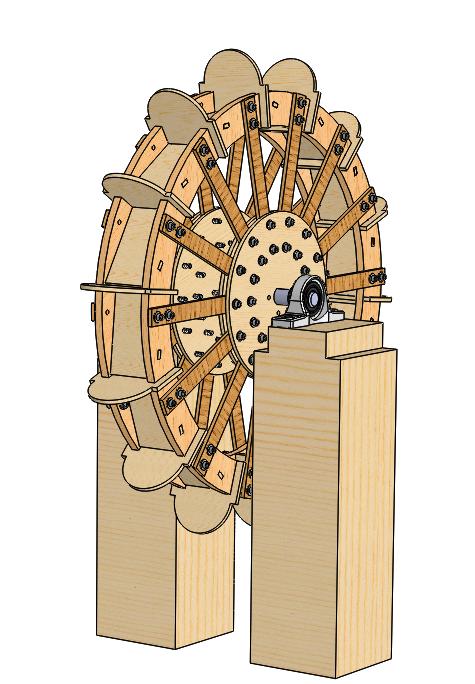 Laser Cut Waterwheel