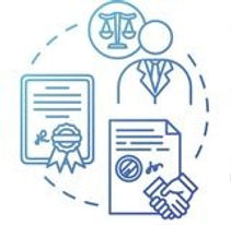 powers-of-attorney-blue-concept-icon-vec