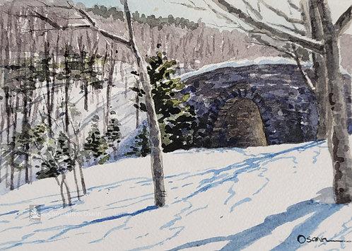 Winter, Duck Brook Bridge