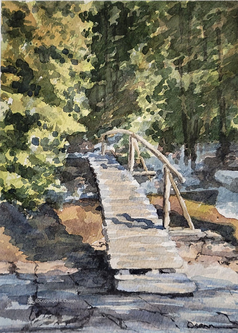 Walking Bridge, Lower Hadlock Pond