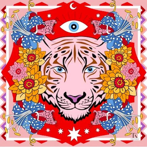 Pink Tiger Sarong by Tukutukum