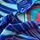 Thumbnail: Eye of Sonia Navy Scarf by Magnol