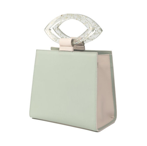 Mint Flower Leather Bag by Magnol