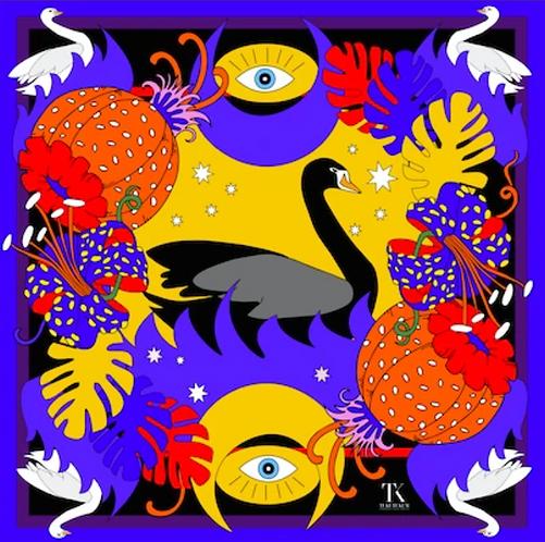 Black Swan Sarong by Tukutukum