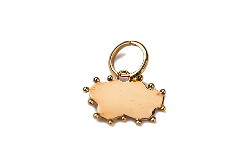 Personalizable Cloud Plate Charm Earring by Padme Designs