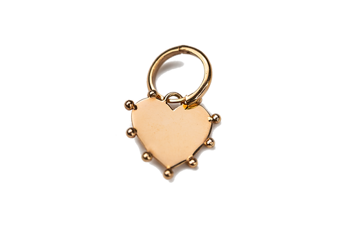 Personalizable Heart Plate Charm Earring by Padme Designs