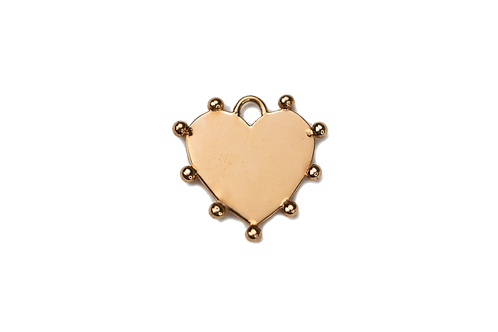 Personalizable Heart Plate Charm by Padme Designs