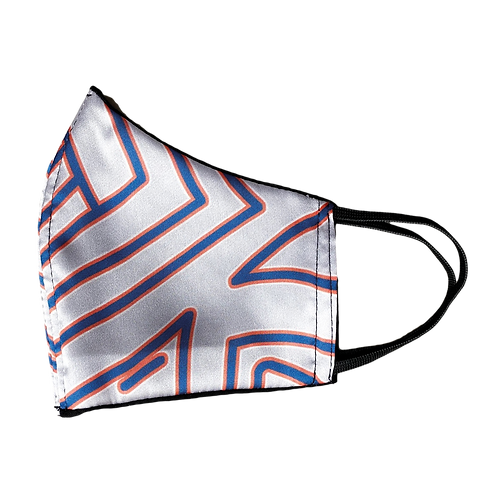 Blue Striped Face Mask by Magnol
