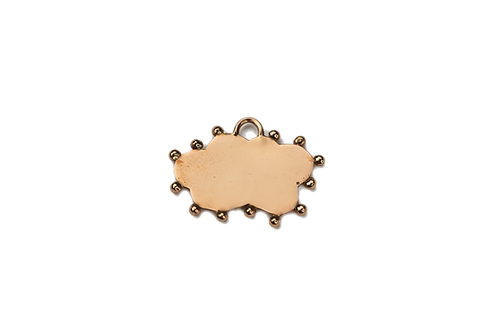 Personalizable Cloud Plate Charm by Padme Designs