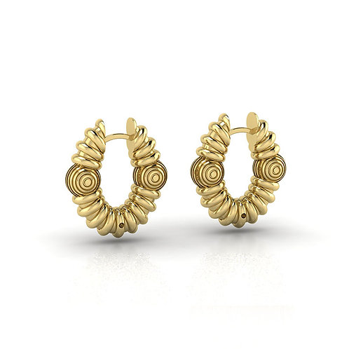 Disco Gold Hoops by MTOY