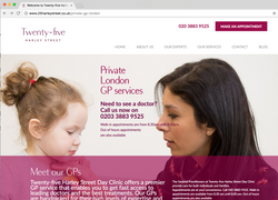 UX LANDING PAGE for 25 Harley Street