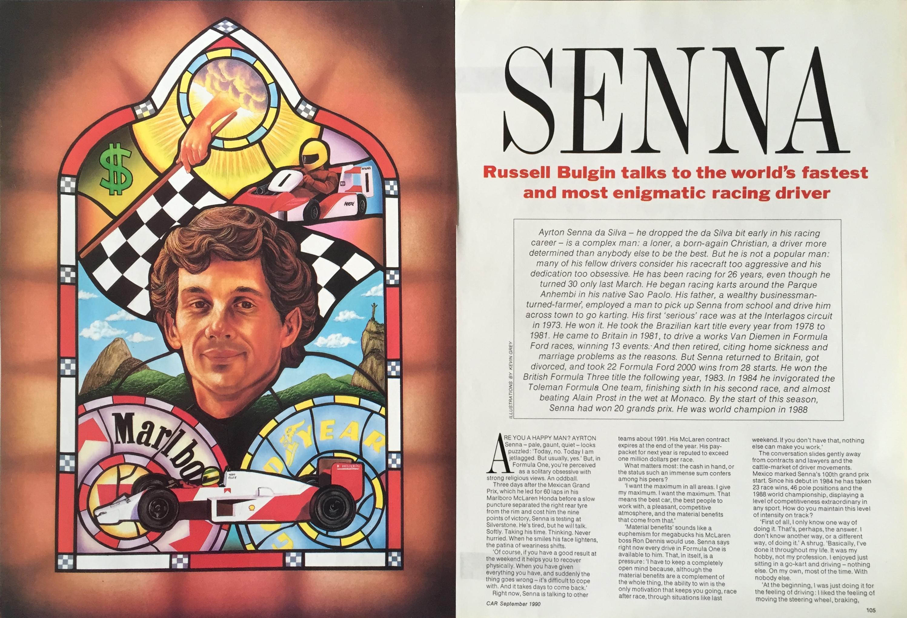 Ayrton Senna © Kevin Grey