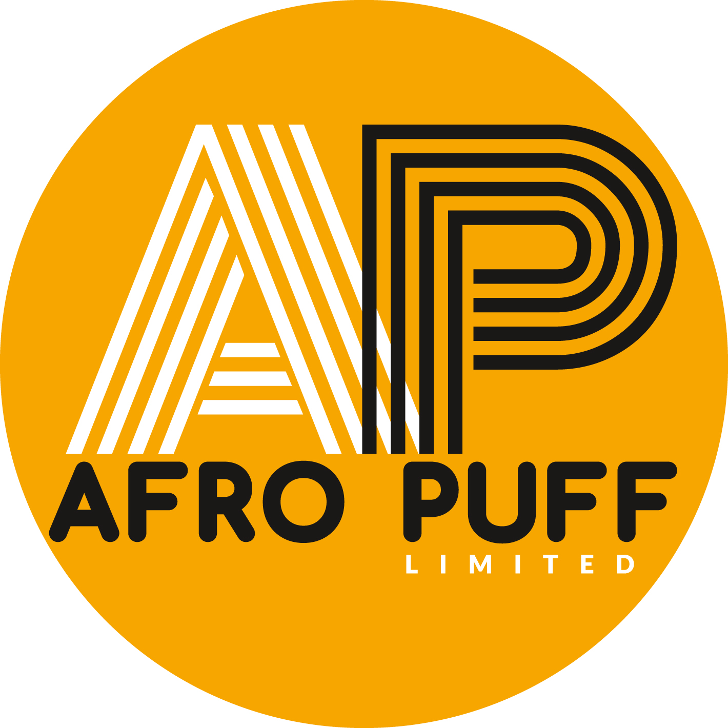 Logo for fashion brand Afro Puff