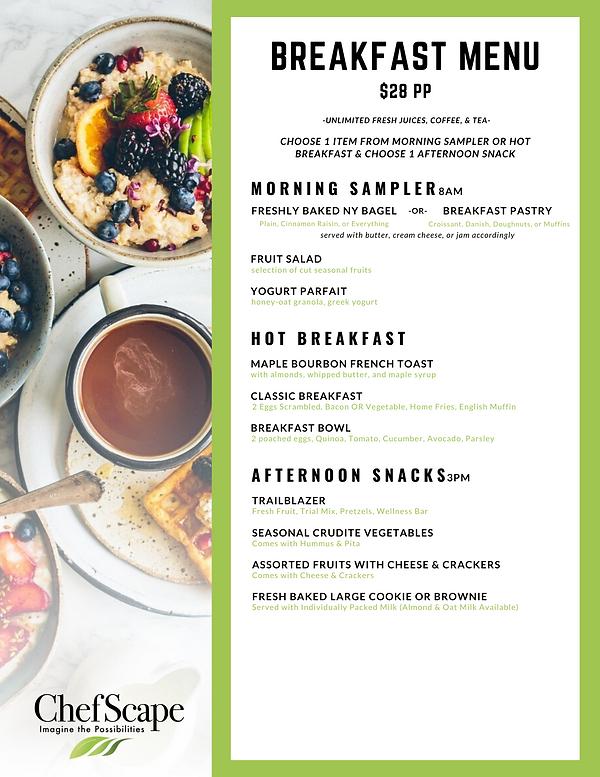 ChefScape Catering Menu - Breakfast & Lu
