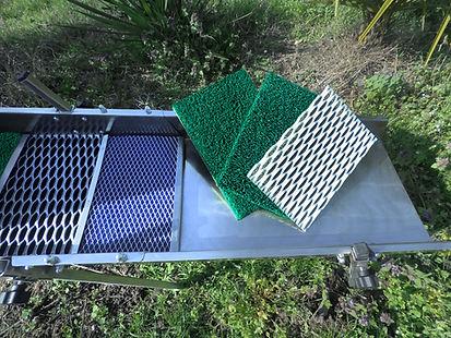 Sluice box in acciao inox per ricerca oro alluvionale