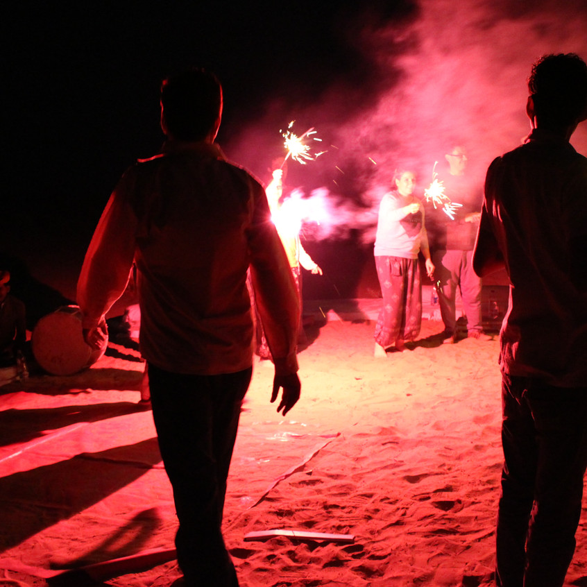 Campsite festivities
