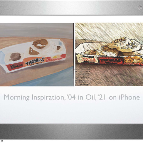 Morning Inspiration in Oils + on iPhone