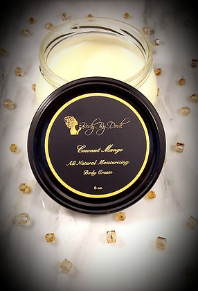 6 Oz. All Natural Body Cream (Coconut Mango)