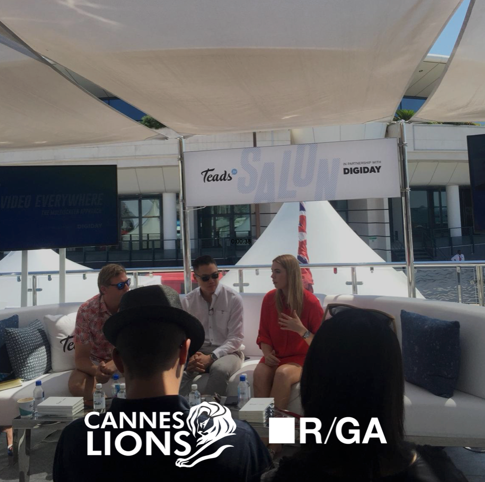 Teads and Digi Day salon at Cannes Lions