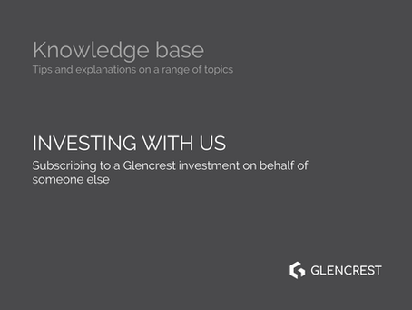 How to subscribe to a Glencrest investment on behalf of someone else