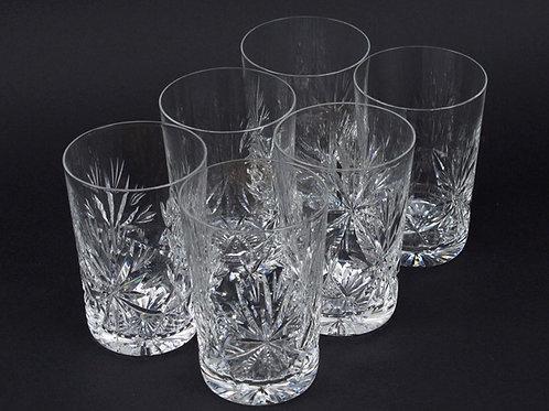 Set of six Edinburgh crystal tumblers