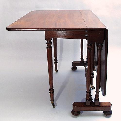 Mid Victorian mahogany drop-leaf table