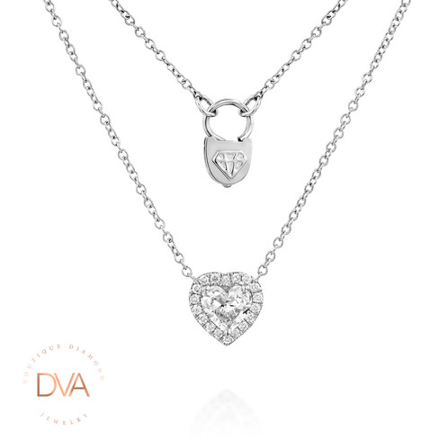 Diamond heart necklace aloadofball Choice Image