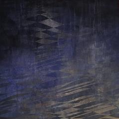 "Above the Waves, 2016, acrylic on wood panel, 24""x24"""
