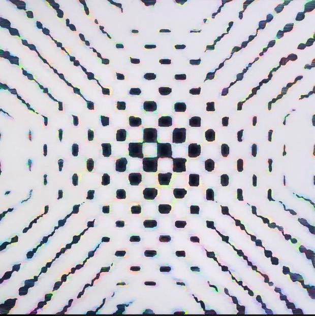 "Kairos II, 2014, acrylic on canvas, 50""x50"""