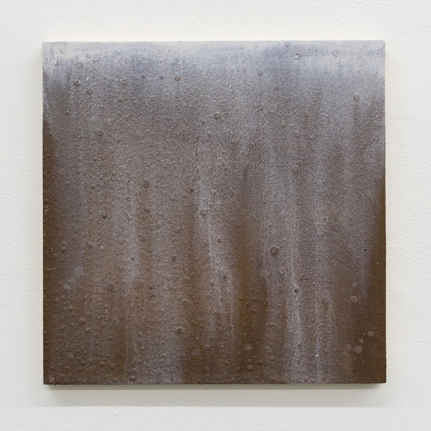"""untitled, 2017, texture gel, interference figment, acrylic paint on wood panel, 12""""x12"""""""