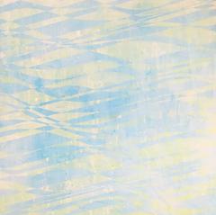 "Above the Waves, 2016, acrylic on wood panel, 16""x16"""