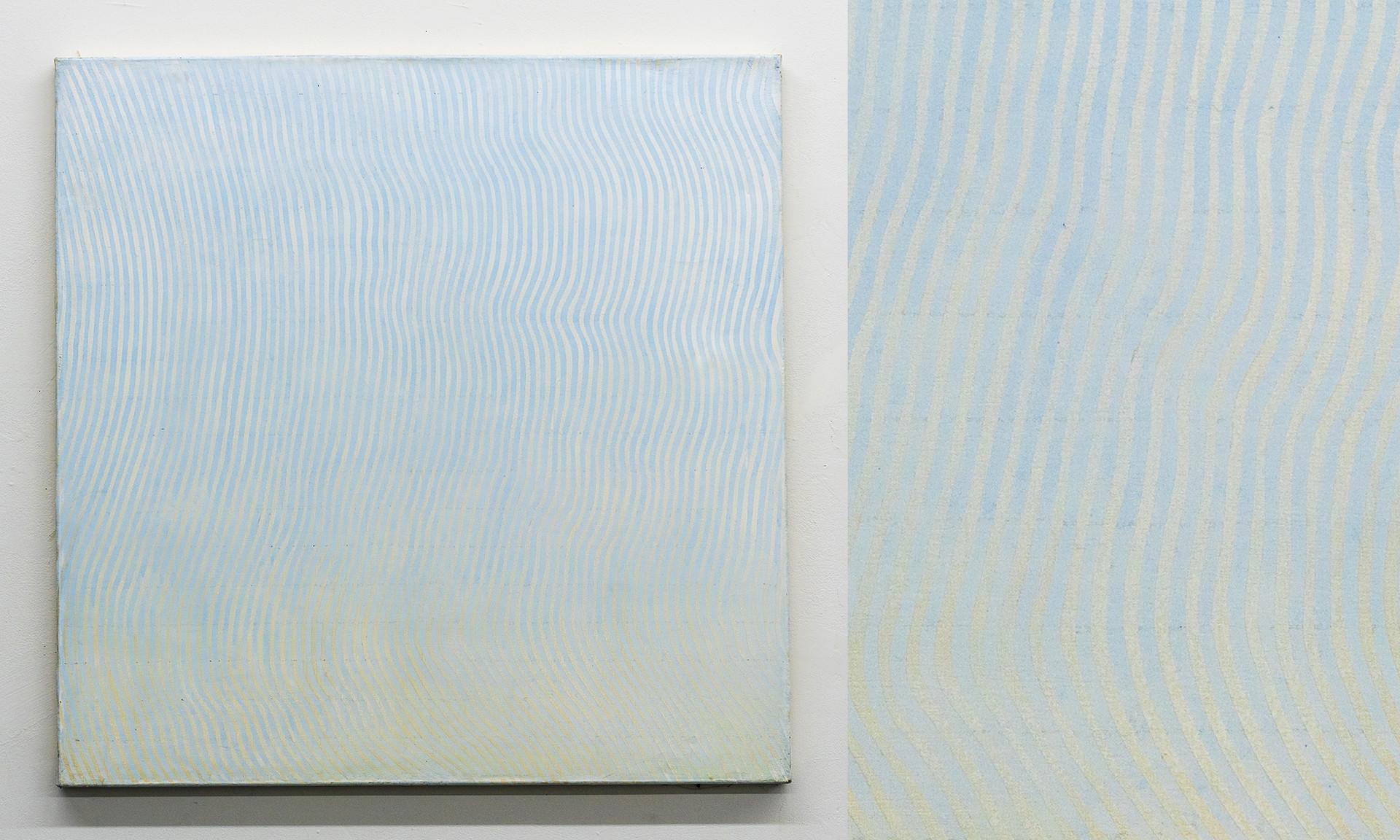 """Wave II, 2016, acrylic on canvas, 36""""x36"""""""