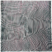 "untitled, 2016, screen printing on paper with ink and interference paint,12""x12"""