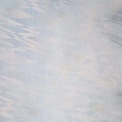 "Above the Waves, 2016, acrylic on wood panel, 12""x12"""