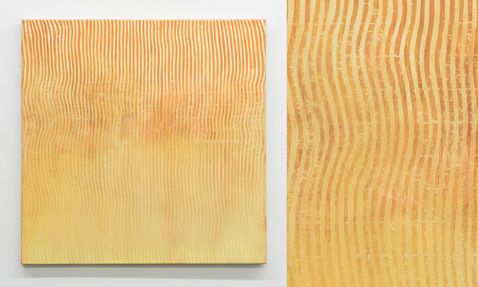 "Wave I, 2016, acrylic on canvas, 36""x36"""