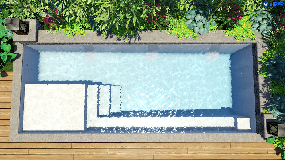The M35 Fiberglass Pool by River Pools