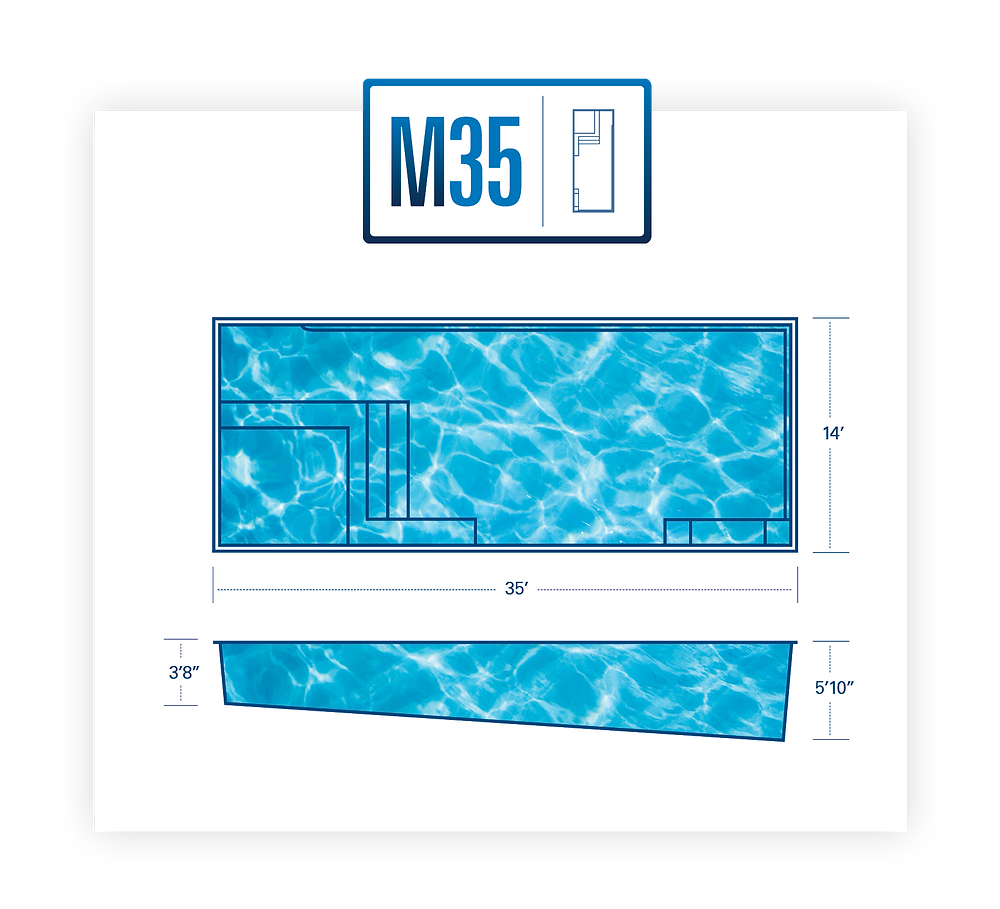 The M Series Fiberglass Pool Models by River Pools