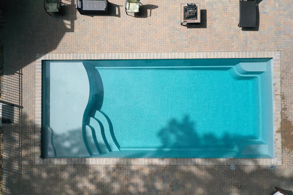 Graphite Color River Pools D36 Fiberglass Pool