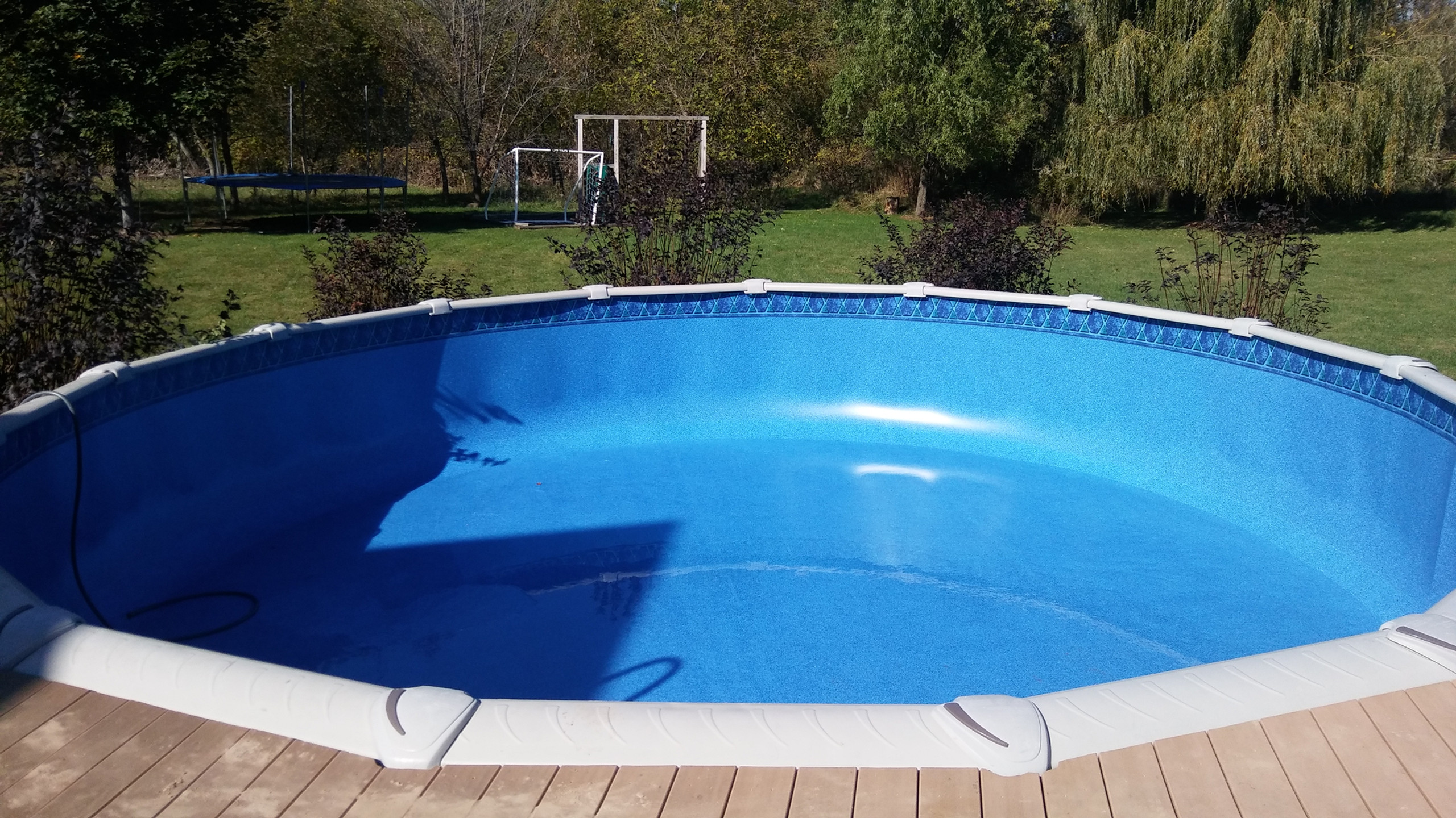 Pool Pros very own Evolution above Ground Pool. This 24' Round Pool was built in Little Suamico WI in 2016