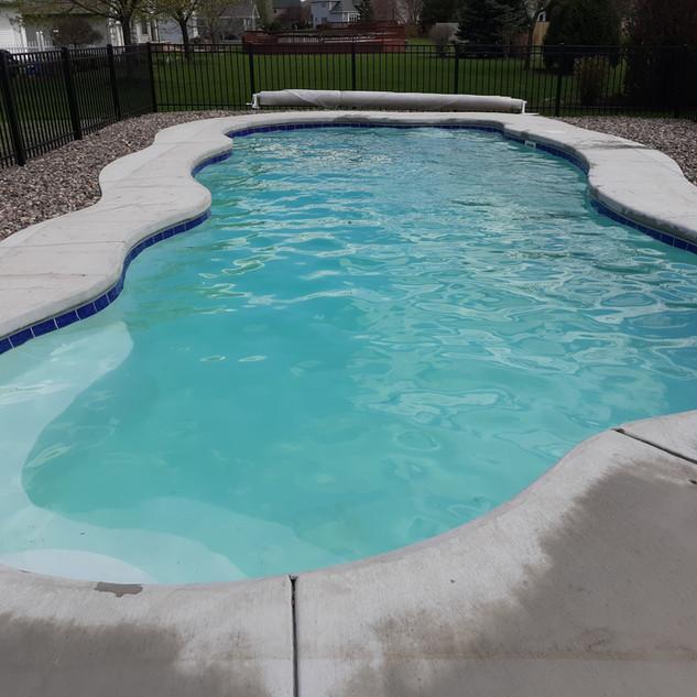 White Fiberglass Pool