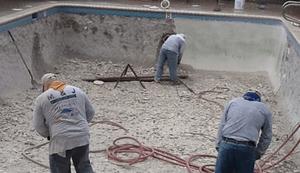 Resurfacing a concrete pool