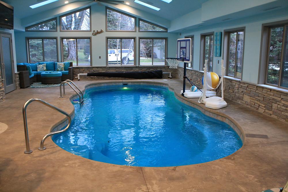 Leisure Pools Riviera Indoor Fiberglass Pool