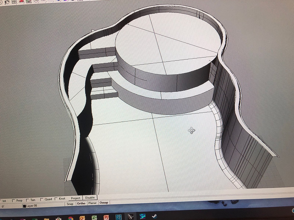 CAD Image of the New San Juan Fiberglass Pool with Round Tanning Ledge